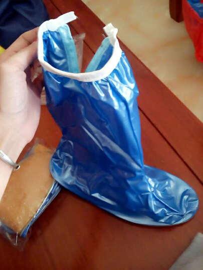 防水防雨鞋套女男高筒雨鞋防滑加厚底耐磨雨靴套儿童鞋套 加厚款红色L-39-40码 晒单图