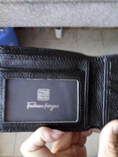 梵士汇(F4Y)JS-4109 男士钱包超薄短款钱夹时尚潮流简约商务休闲多功能钱包 黑色A 晒单图