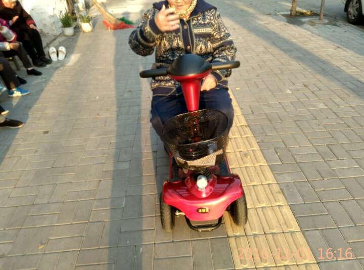 英格威F35-F40-F6双人轻便智能代步车四轮电动车残疾人助力车代步车折叠车单手操作免充气实心轮胎 F40/USB手机充电口/12A铅酸续航20KM 晒单图