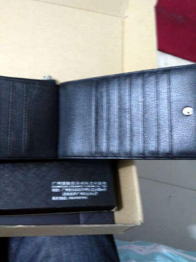 英皇保罗 防盗刷卡包男士钱包长款多卡位皮夹头层牛皮拉链卡夹大容量钱夹 纯黑色软皮 晒单图