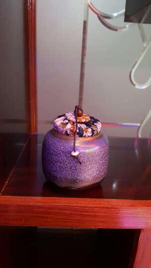 fw 粗陶迷你高档茶叶罐 密封小号铁观音普洱茶缸便携储茶罐香粉罐 糖果罐 茶具配件摆件 软木塞复古款 晒单图