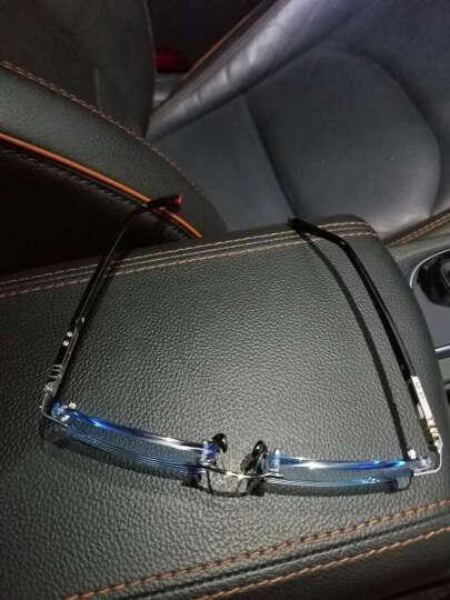 兰福超轻成品近视眼镜架 商务眼镜框男士 无框眼镜 钻石切边眼镜潮 镜框+1.61变灰色镜片 晒单图