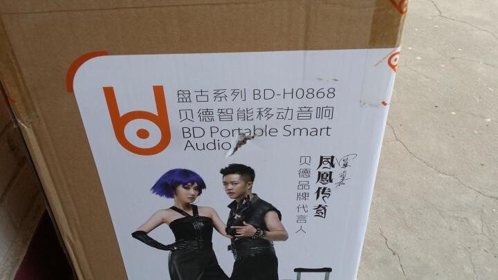 贝德(BD) H-0865 音响 音箱 广场舞音响 拉杆音响 户外移动音响 8英寸低音炮 蓝牙USB 无线麦克风 音响扩音器 晒单图