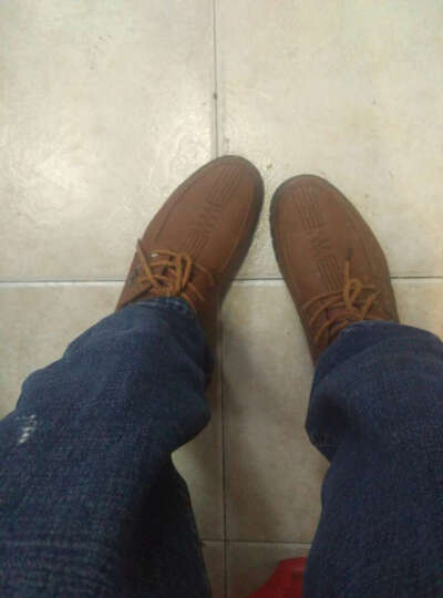 南极人(Nanjiren)时尚新款休闲鞋 男鞋时尚商务鞋板鞋潮鞋鞋子男皮鞋 16002NJ985棕色 44 晒单图