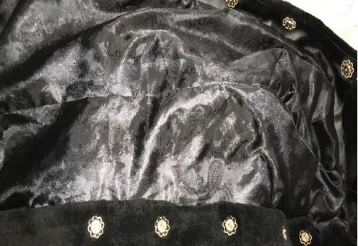 Ousmile 皮草外套女秋冬季新款羊剪绒皮毛一体中长款女装羊羔毛加厚大衣 1219 2139红黑 L 晒单图