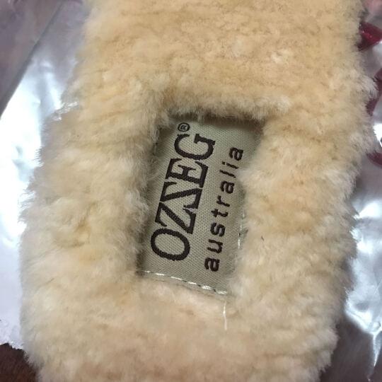 OZZEG羊皮毛一体鞋垫鞋配件加厚纯羊毛冬季鞋垫加绒豆豆鞋女雪地靴 米白色 36女码 晒单图