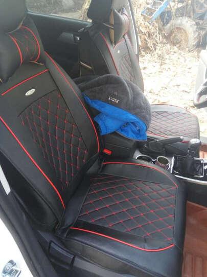 卡客 四季通用汽车坐垫 全包围仿皮革汽车座套哈弗H6别克英朗帝豪远景朗逸卡罗拉五座专用座垫 咖啡棕-豪华版 北京现代ix35 ix25现代全新胜达途胜 晒单图