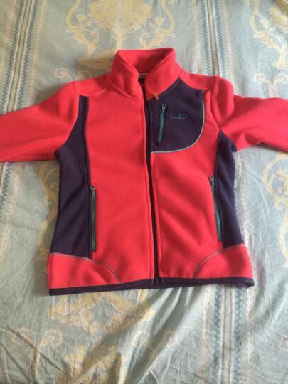 CAMKIDS 男儿童防风保暖抓绒衣 955751 橙色160 晒单图