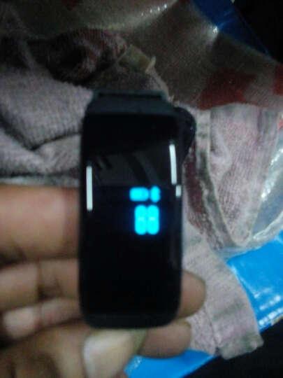 博之轮(BOZLUN)学生运动电子表男女款潮流时尚手表智能手环防水心率计步智能提醒睡眠监测 白色宽屏-心率版 晒单图