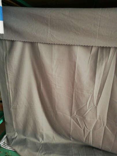 大学生寝室宿舍床帘透气遮光防尘顶上铺下铺纯色床幔布蚊帐素色涤棉布料 水蓝色 2*1.35m床帘一片 围正面 晒单图