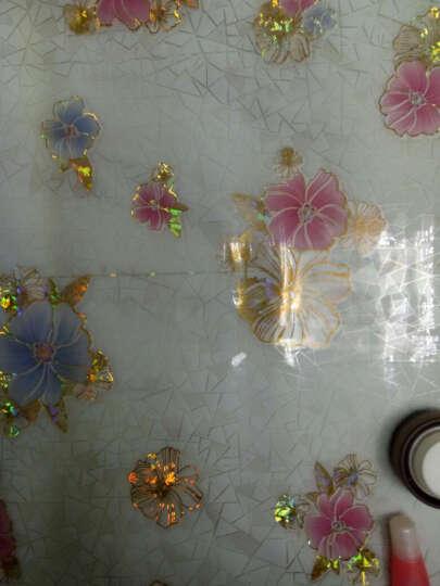 虹语荷 餐桌布pvc软玻璃防水防油茶几垫透明塑料玻璃板水晶版餐桌垫隔热台布定制 金边玫瑰1毫米厚 特殊规格请联系客服 晒单图