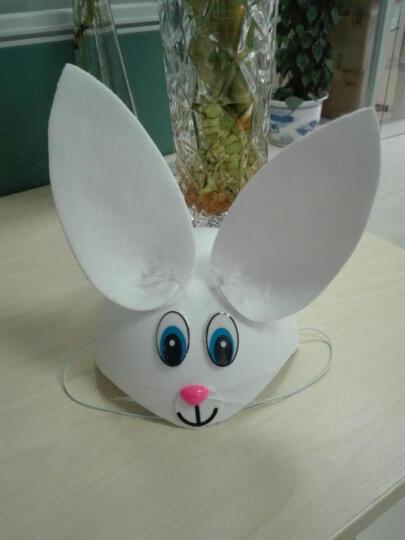 可爱小动物帽子表演用品聚会装扮COS道具儿童兔老鼠卡通动物头饰 灰太狼帽 晒单图
