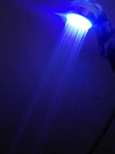 帝帛卫浴 发光花洒喷头套装 负离子过滤环保莲蓬头LED七彩闪烁热水器淋浴增压喷头 DB8236A款七彩闪烁+花洒管+支架 退换无忧 晒单图