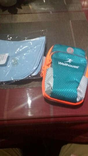 卡罗家炫酷运动手机手臂包 手机绑带包 跑步包 钥匙手机包 蓝绿色 M码适合机型见详情 晒单图