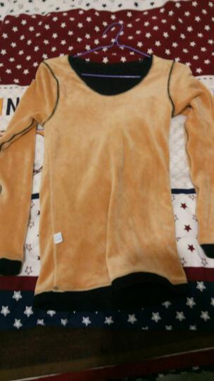 保暖内衣 女单件加绒加厚蕾丝紧身保暖上衣 性感V领-黑色 上衣 均码-适合体重80-135斤 晒单图