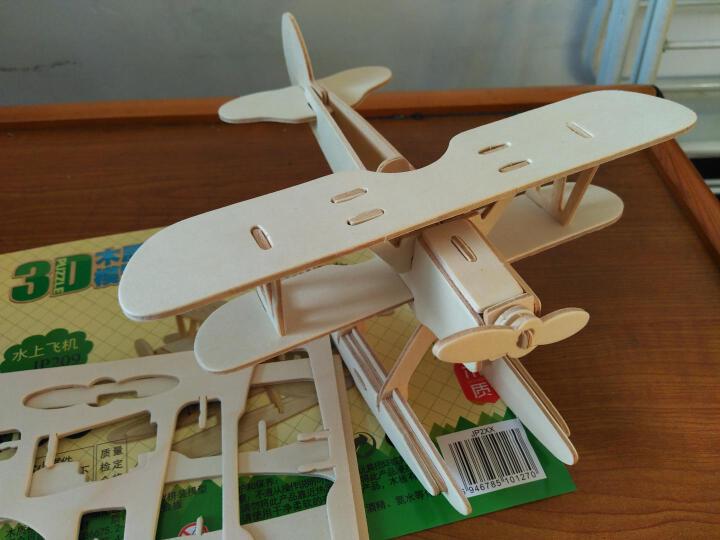 若态Robotime 3D立体拼图DIY益智拼装模型木质手工飞机车坦克导弹军事工程系列 JP242导弹车 晒单图