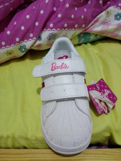 芭比童鞋 女童运动鞋2017春季新款板鞋休闲白色鞋跑步鞋儿童鞋子 1740新版小红尾 33码 晒单图