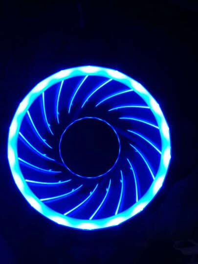 乔思伯(JONSBO)FR-101炫光蓝 12CM机箱风扇(引擎涡轮扇叶/蓝色LED/主板3PIN接口+电源D型口接口) 晒单图