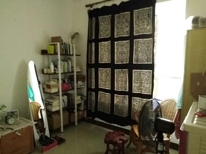 意尚格钢木组合简易书架储物架置物架货架展示柜展示架 黑腿+浅胡桃板材 五层80*30*182 晒单图