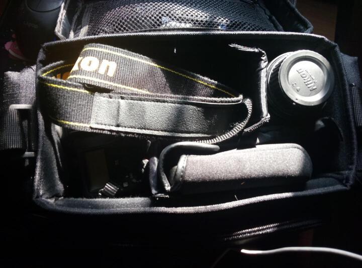 尼康(Nikon) 单肩双排扣包/单肩黑色包单反相机包单肩摄影包 双排扣摄影包 D300/D300S  用 晒单图