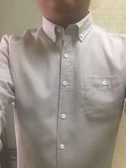 汇宾2018春季新款宽松长袖衬衫男商务休闲纯棉男士衬衣牛津纺免烫大码中年上衣寸衫 白 L/40 晒单图