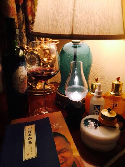 络曼(LUOMAN)地中海蓝色玻璃简欧式卧室台灯床头灯田园创意时尚书房客厅装饰灯 晒单图