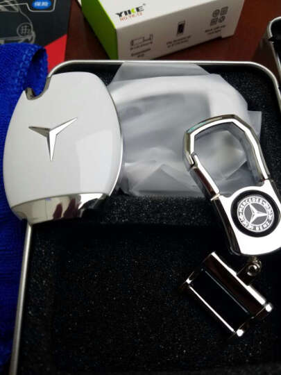 LUCKEAS 奔驰钥匙包新C级GLK GLA级 E级GLC级 C200L奔驰金属钥匙壳 ABS磨砂黑 晒单图