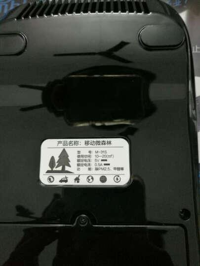 美泊客汽车载空气净化器太阳能除烟味除甲醛消除异味车用净化器抗雾霾车内 黑色 晒单图