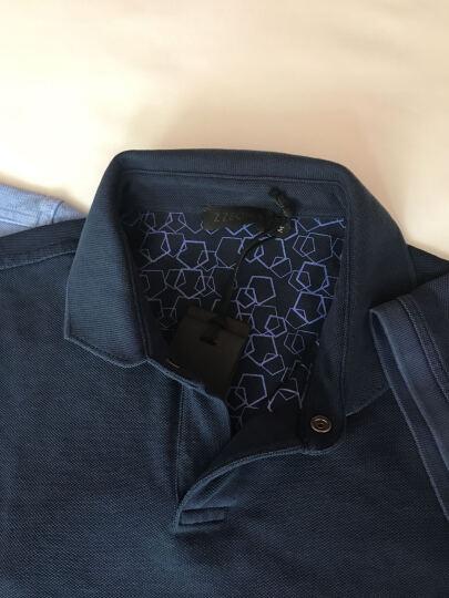 Z ZEGNA 杰尼亚 男士浅粉色棉质短袖POLO衫 VI309 ZZ640 P02 XL码 晒单图