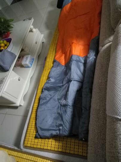 魔铁(MOTIE) 睡袋户外 成人春夏秋冬四季信封式加厚单双人可拼接睡袋 橙色1.4KG 晒单图