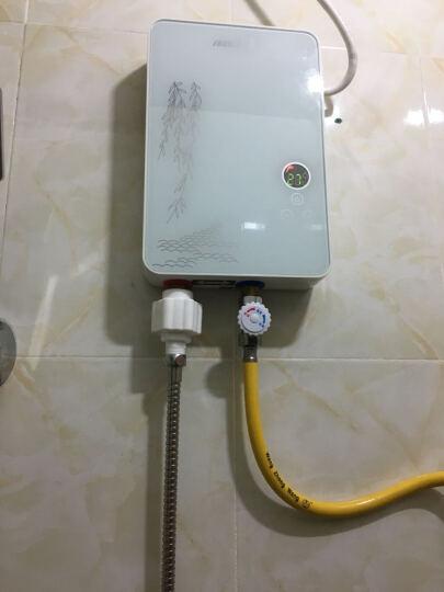 优博(EUROBLAST) 智能变频恒温即热式电热水器洗澡淋浴快热式小厨宝KBR-F62 B75黑色智能恒温机7.5kW 包安装 晒单图