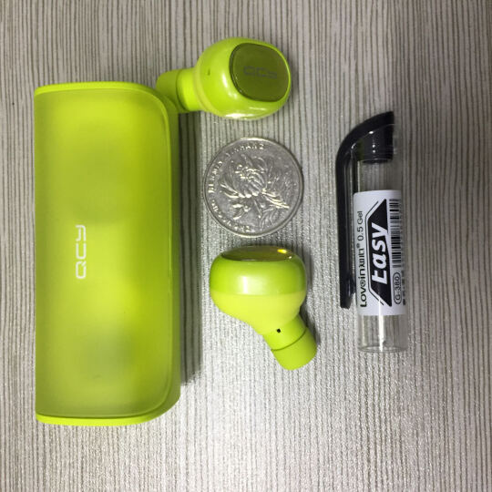 QCY Q29 真无线蓝牙耳机 双耳运动跑步耳机 Air分离式 智能蓝牙4.2 手机通用 青春绿 晒单图