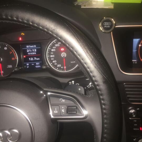 卡佳新款K3真皮方向盘套牛皮把套奥迪宝马大众现代本田别克丰田龙威马自达福特起亚日产标志哈佛 黑色 奥迪A3/A4L/A5/A6L/Q3/Q5/Q7 晒单图