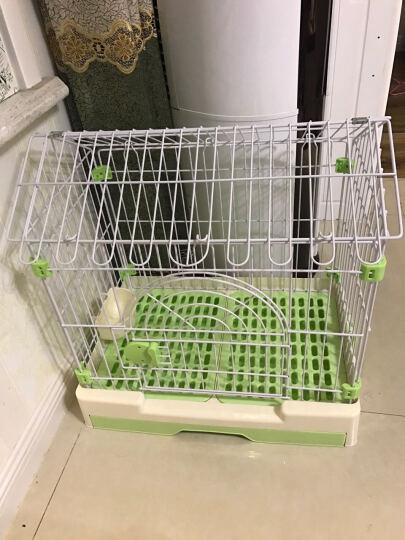 捣蛋鬼 狗笼子 带抽屉 滑轮 狗厕所 双层 可拆卸 绿色 晒单图
