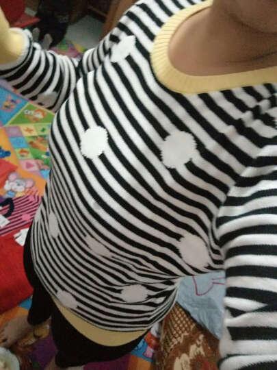 鸿星尔克官方旗舰店 线衫女圆领休闲外套女款套头针织线衣长袖上衣 米白(波点) S 晒单图