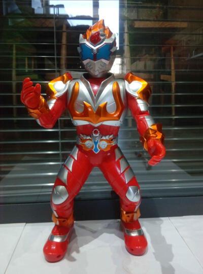 JJR/C 铠甲勇士奥特曼跳舞电动遥控智能红外遥控机器人玩具儿童礼物 机甲战警(蓝色) 晒单图