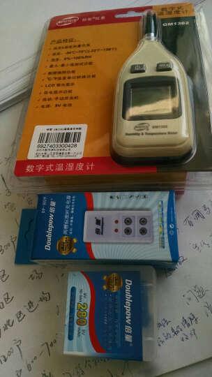 标智 精度数字温湿度计 家用电子温度计 工业测温仪GM1362 标配+9V充电套装 晒单图