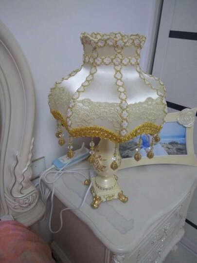 wanlang 欧式台灯卧室床头灯公主田园创意婚庆装饰台灯 5666 珍珠 调光开关 晒单图