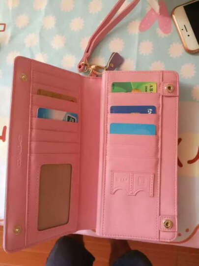 CORALDAISY 新款牛皮女士钱包 女式手拿长款手机钱包卡包女韩版手包SSQB5044 粉红色 晒单图