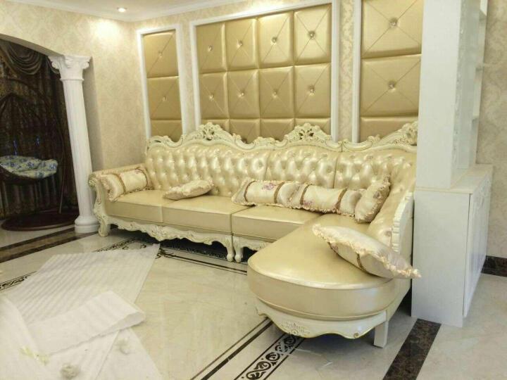 欧式沙发 品牌美式实木头层真皮沙发奢华