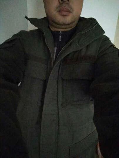 绿依舍军迷套装男户外迷彩服套装休闲运动风衣保暖棉大衣套装可拆卸帽耐磨工作服 军绿色 S(165) 晒单图