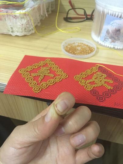 鸿胤蒙娜丽莎 十字绣车挂件平安符汽车挂件带中国结满珠绣新款吊坠印花钥匙扣车饰挂饰 FH025单件(套件) 长0.1米*宽0.1米 晒单图