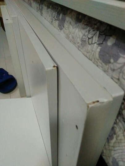 爱佳德简约现代电视柜柜可伸缩钢化玻璃厅柜茶几电视机柜 北欧蓝松木+暧白抽面 晒单图