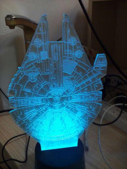 3D灯创意3d立体视觉氛围台灯led小夜灯抖音 玫瑰-扁形按键底座 晒单图