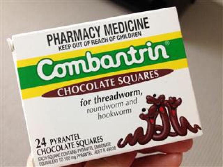 【澳洲直邮】Combantrin 宝宝儿童成人驱虫巧克力打虫药24块 *3盒(72块) 晒单图