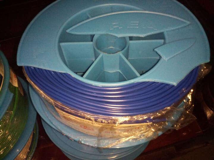 远东电线电缆(FAR EAST CABLE)BV2.5平方国标家装插座用单芯单股铜芯电线100米 黄色零线 晒单图