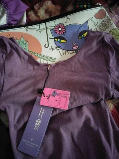 比瘦 保暖内衣云魅惑薄高弹37度恒温塑身衣分体套装 美体性感束身打底秋衣秋裤 紫色 均码(90-130斤) 晒单图