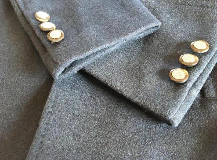 啄木鸟(TUCANO) 羊毛呢大衣男 2019冬季新款男装商务休闲修身中长款呢子大衣男外套 黑色 XL 晒单图