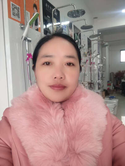 我伊  皮衣女风衣2016年秋冬新款韩版女装修身时尚皮毛一体长袖PU皮皮草 紫色的 XXXL 晒单图