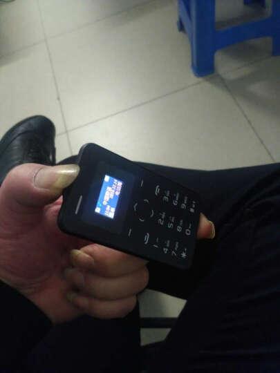 儿童迷你超小手机超薄袖珍可爱卡通手机个性男女学生按键卡片手机小天才电话 黄绿色 晒单图